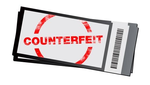 fake concert ticket